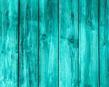 Empty turquoise wooden background.