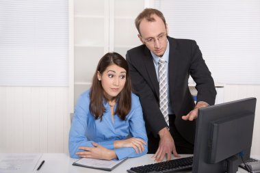 Gossip and harassment under business people on workplace - criti
