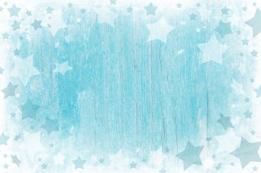 Blue or turquoise wooden christmas background with texture.