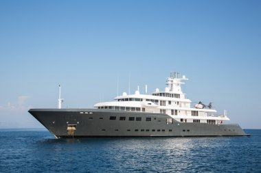 Gigantic big luxury mega or super motor yacht. Investment for mi