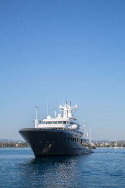 Gigantic big luxury mega or super motor yacht. Investment for mi