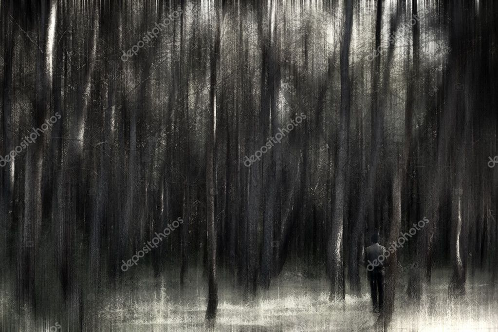 Man in a forest