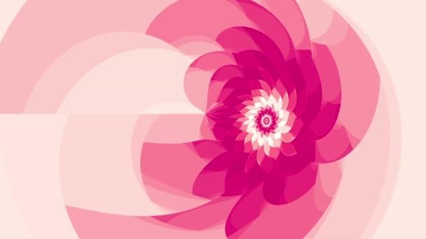 růžový květ bezešvá smyčka animace
