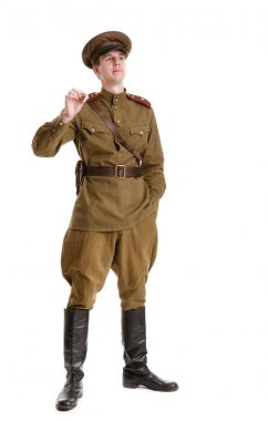 actor dressed in military uniforms the Second World War