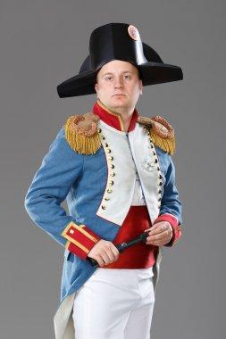 Actor dressed as Napoleon