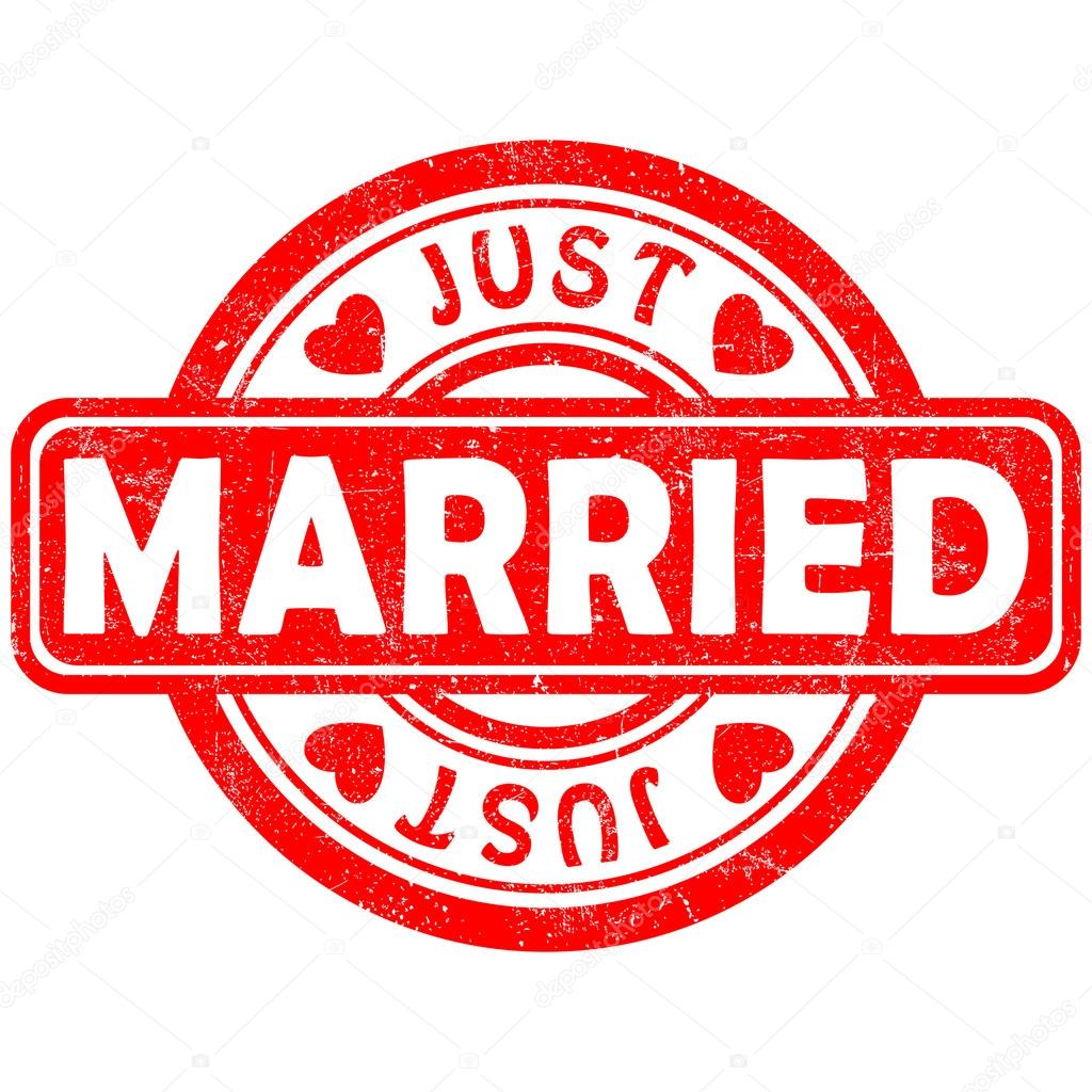 Stamp Of Just Married Stock Vector C MishaAbesadze 34907881