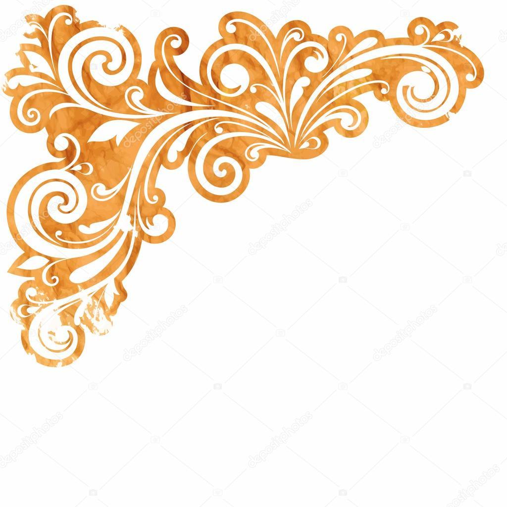 décoration florale. élément de dessin calligraphique. style russe