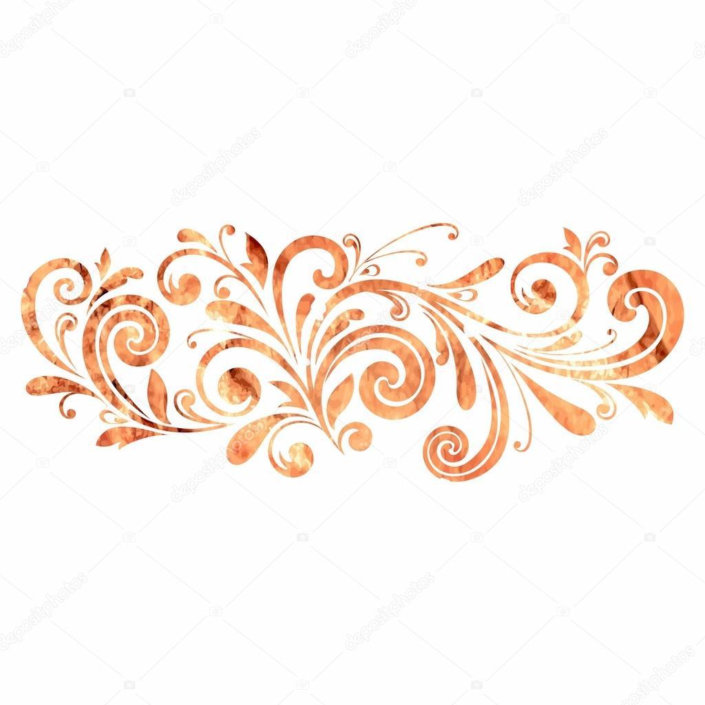 Décoration florale. élément de dessin calligraphique. style russe \u2014 Photo