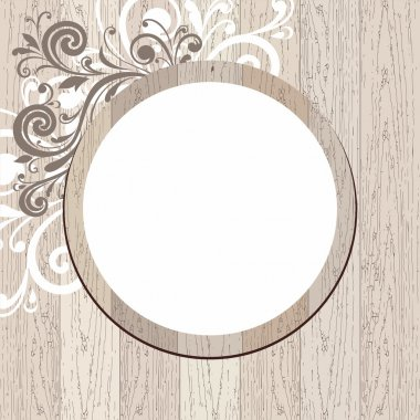 Vector wood frame.