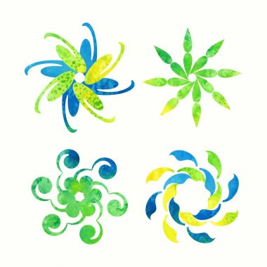 Floral signs for decoration..
