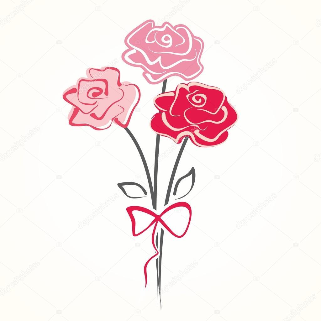 Cute bouquet of flowers stock vector oaurea 44137681 cute bouquet of flowers vector illustration with roses vector by oaurea izmirmasajfo