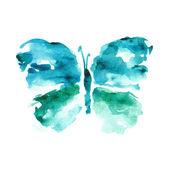 Fotografia farfalla blu acquerello