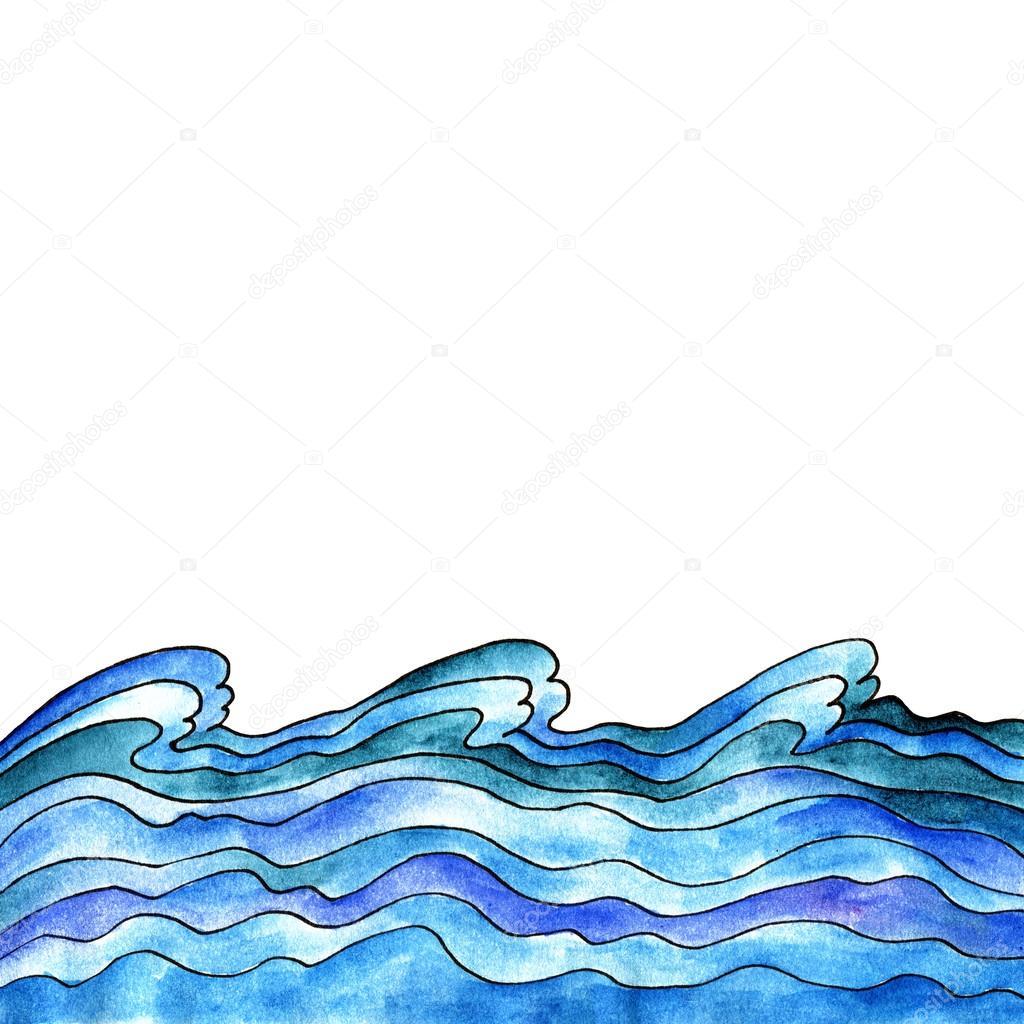 Blaue Welle Hintergrund Stockfoto Oaurea 50715461