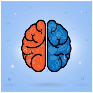 left brain and right brain symbol,creativity sign,business symbo