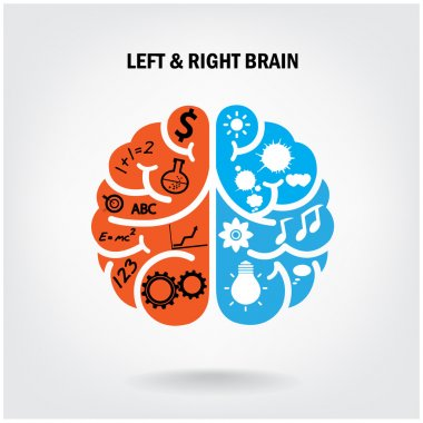 Creative left brain and right brain
