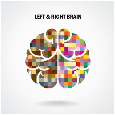 Creative left brain and right brain