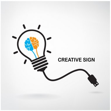 Creative light bulb sign