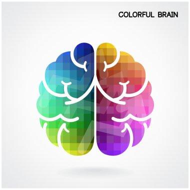 Creative colorful  brain Idea concept background