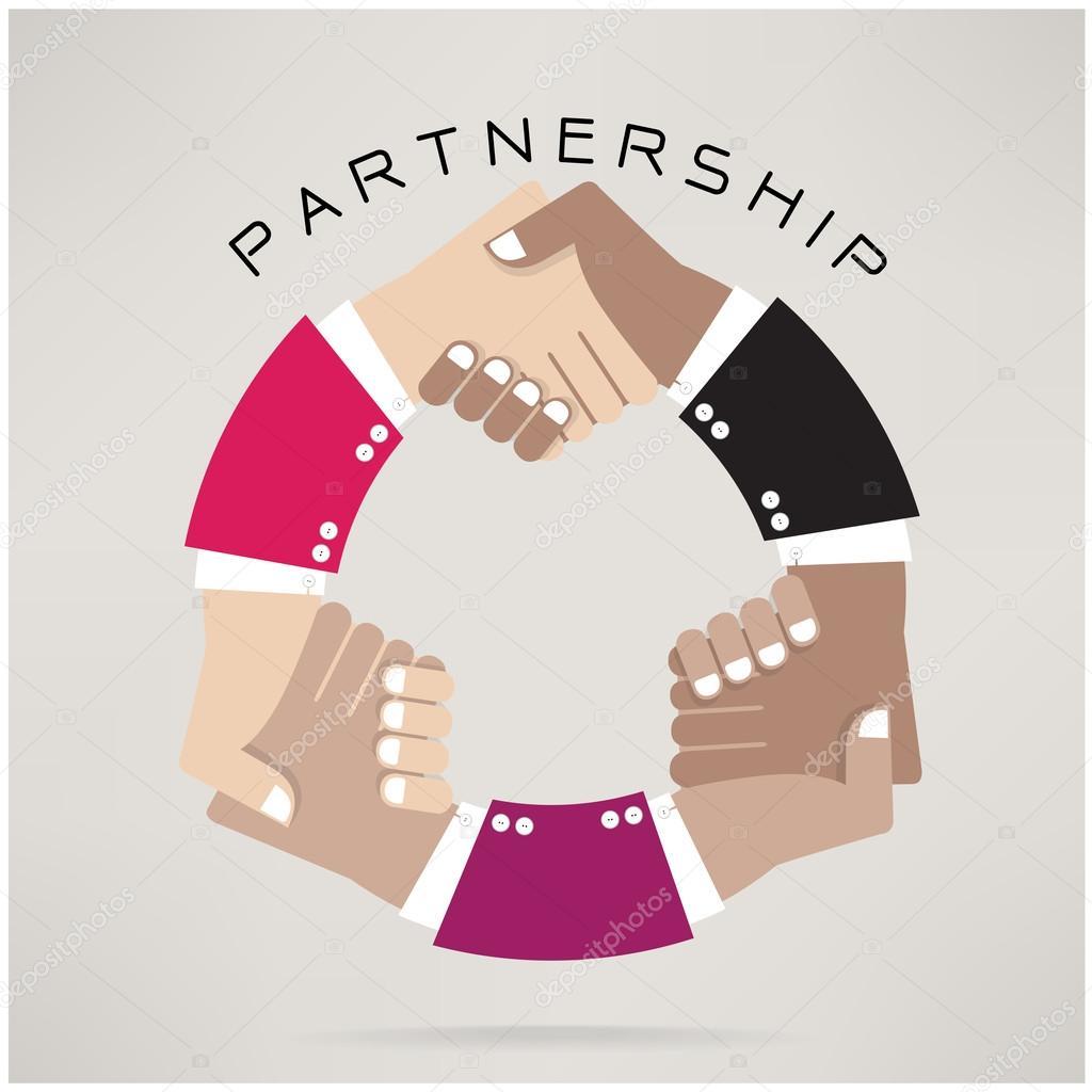 Handshake abstract  design template,Partnership concept