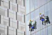 Fotografie Fenster-Scheiben, die Arbeit an Bürogebäude
