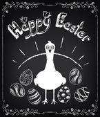 Fotografie happy Easter-Hintergrund. Vintage-Design hand Schriftzug