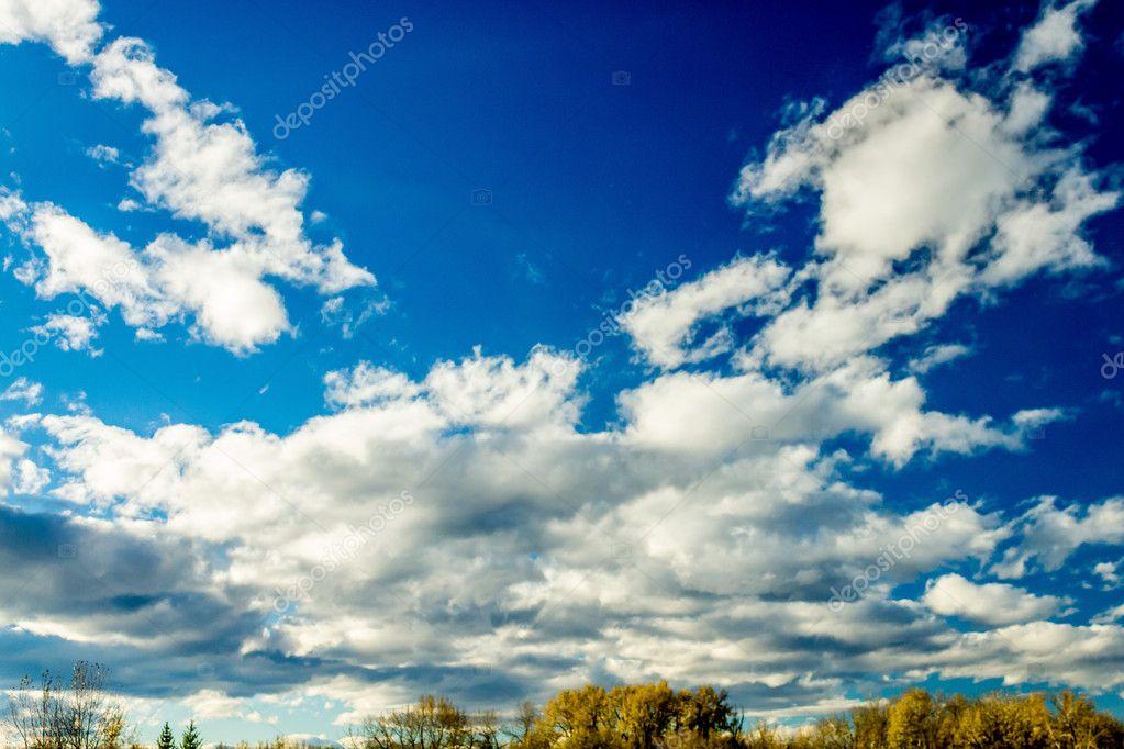 Vibrant blue sky