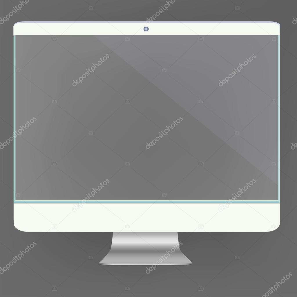 Ordinateur transparent écran nouveau technologie numérique pc futuriste  concept créatif design horizontal dans les vecteurs —