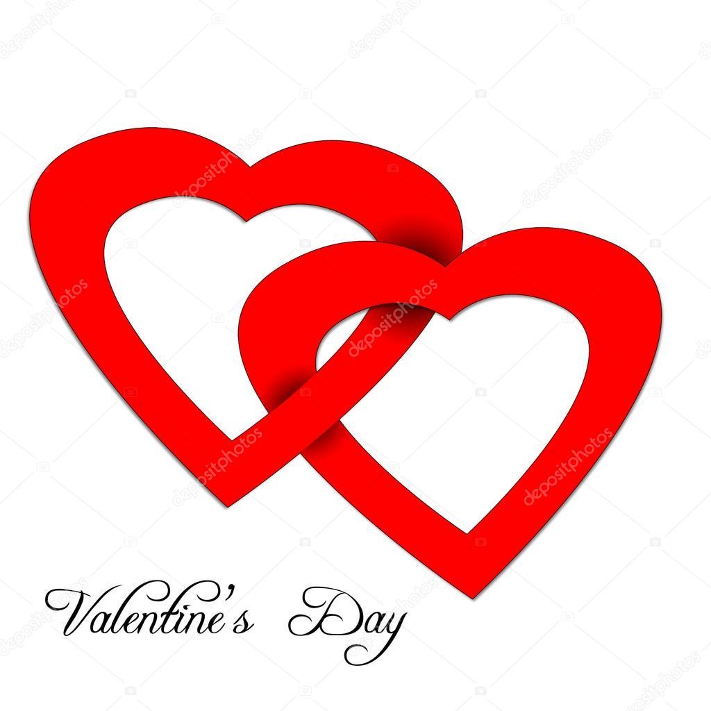 Herz Aus Papier Valentinstag Karte Stockfoto Bonilla1879 39566133