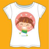 Angry Cute Girl T-shirt