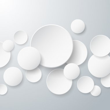 Floating Paper Circles Background