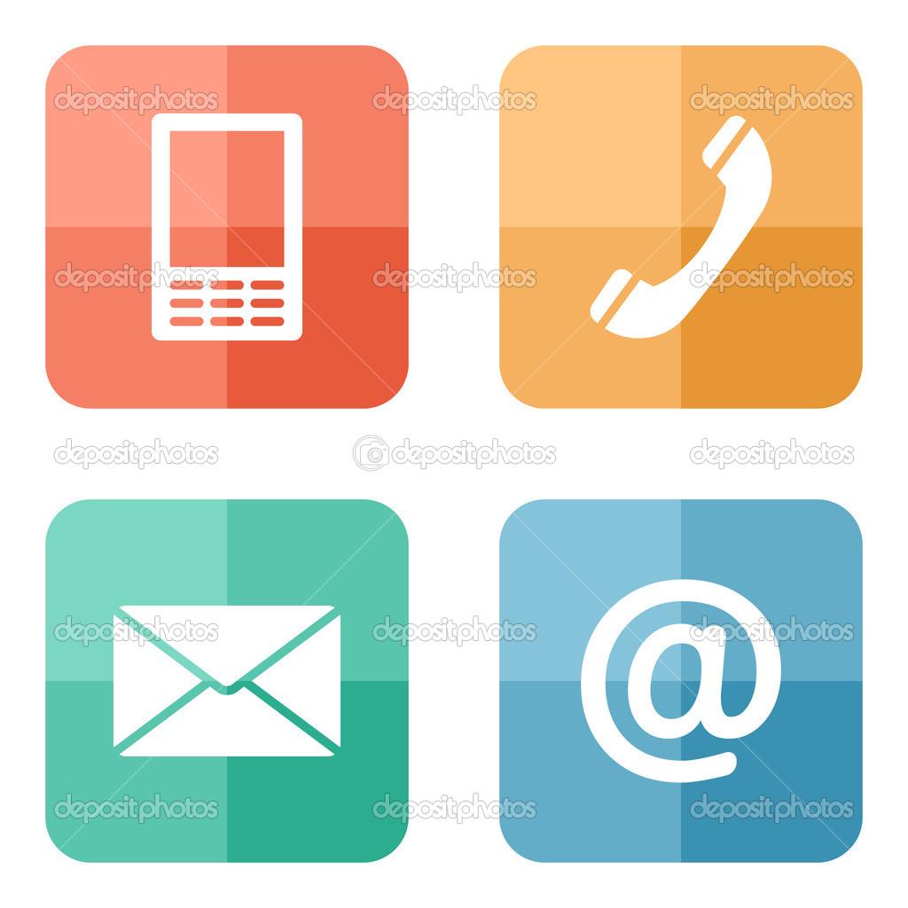 Contacto iconos botones set tel fono m vil envolvente for Telefono oficina de correos