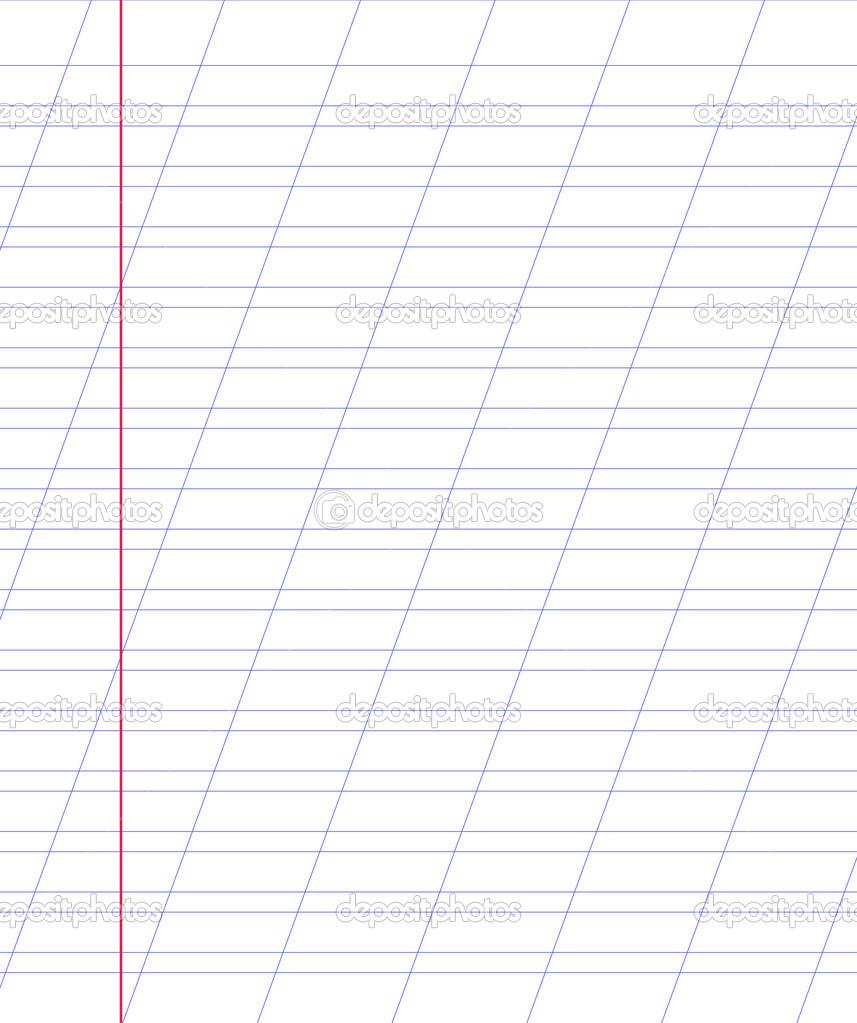 blank notebook paper sheet with lines stock vector binik1 44404213