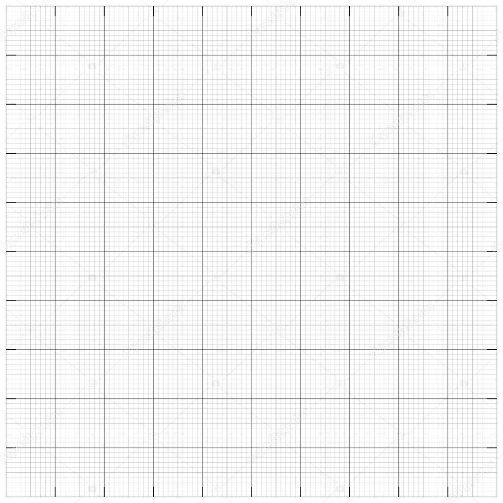 Square grid millimetre graph paper background. Vector illustrati