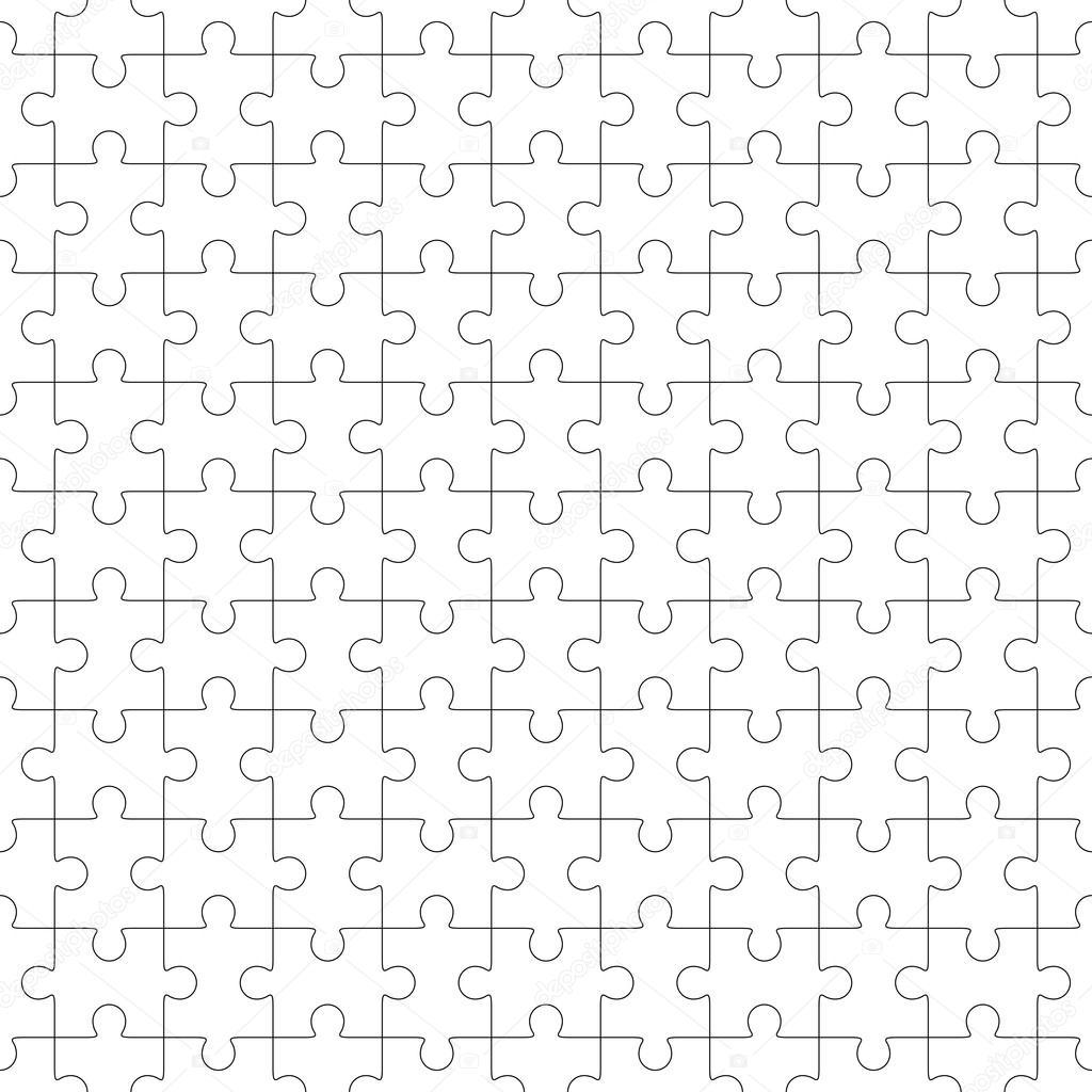 Jigsaw Puzzle nahtlose leere Vorlage — Stockvektor © binik1 #46948647