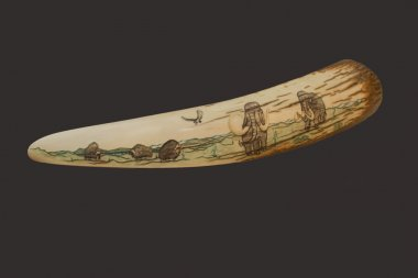 Engraving on mammoth tusk