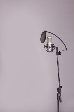Studio Microphone in a sound recording studio