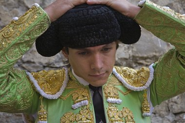 The french bullfighter Sebastian Castella is the montera before you start to fight