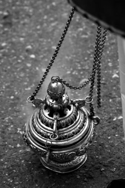Censer of silver or alpaca to burn incense in the holy week, Spa
