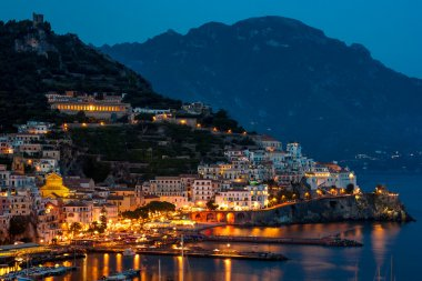 Amalfi city at night