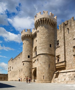 Famous Knights Grand Master Palace (Castello) in the medieval town of Rhodes, Greece