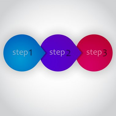 Next Step Arrow Circles. Vector Design