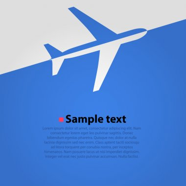 Airplane flight vector background. Blue