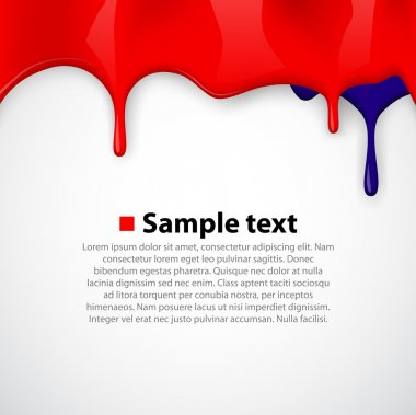 Seamless Red paint colorful dripping background.