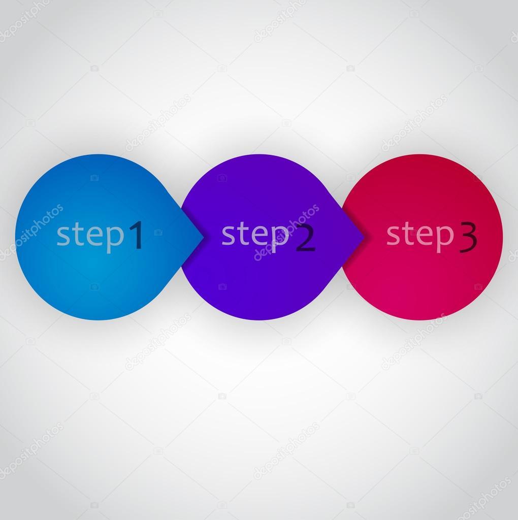 Next Step Arrow Circles. Vector Design