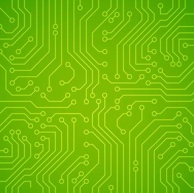Vector circuit board. Green variant