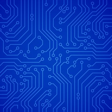 Vector circuit board. Blue variant