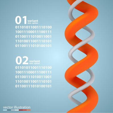 Spiral infographic elements with numbers.