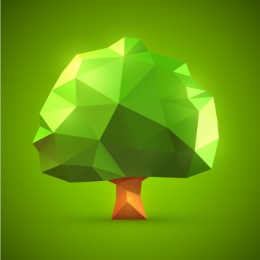 Origami tree vector illustration