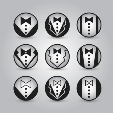 Vector round icons jacket.