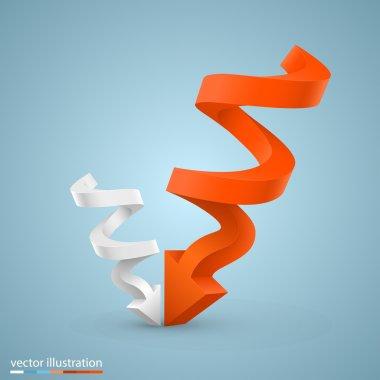 Vector spiral arrow